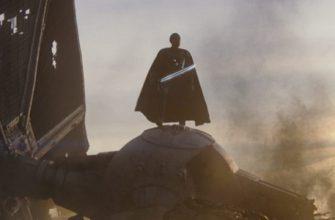 Джин Джардин с темным световым мечом на этом постере «Мандалорца»